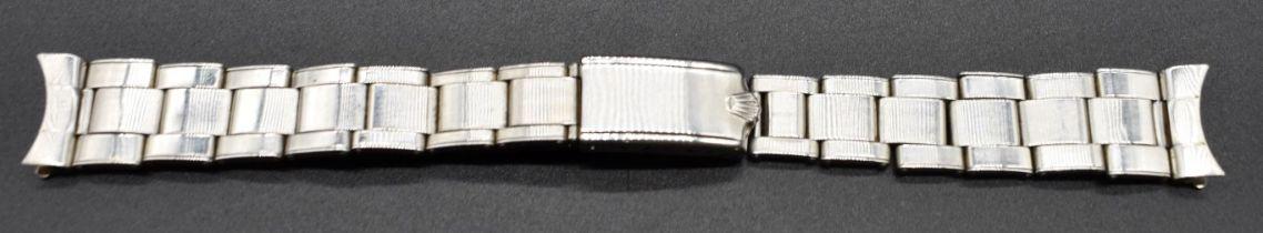 A 1968 Rolex Oyster 6635 rivet bracelet, dated 1/68, having 17mm end links stamped 51, length