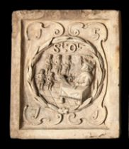 Architectural: A similar Coade stone boundary marker plaque, circa 1780/90, the underside stamped