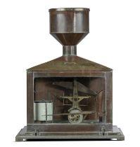 Scientific Instruments: An exceptionally rare rain recording gauge by Negretti & Zambra of London