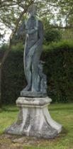 A bronze figure of the Medici Venus Italian