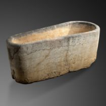 A pair of important carved Rosso Verona marble baths from La Suvera, Siena, country villa of...