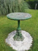 A Victorian cast iron cast iron circular occasional table