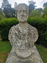 James Sherwood Westmacott: A carved white marble portrait bust of a gentleman