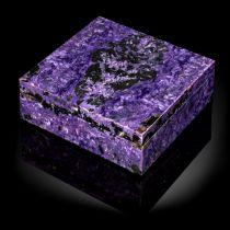 A charoite veneered marble box