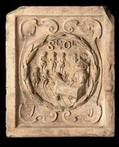 A similar Coade stone boundary marker plaque