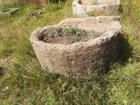 Three stone troughs