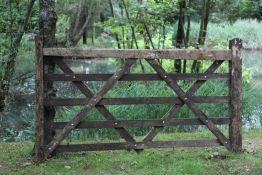 A five bar wooden gate