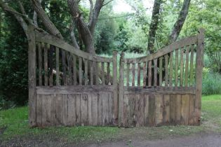 A pair of wooden gates