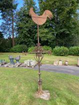 A Victorian wrought iron weathervane