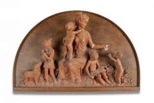 An unusual terracotta plaque