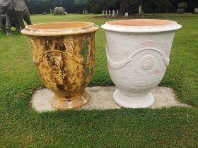 A glazed terracotta vase d'anduze