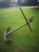 An iron anchor