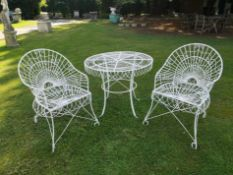 A suite of wirework furniture
