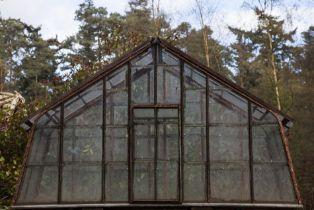20th Century Iron framed small greenhouse