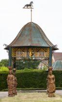 An impressive cast iron pavilion