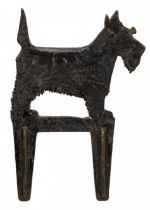 20th century cast iron Terrier boot scraper