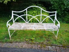 A Regency style wrought iron seat
