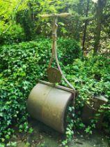 A late Victorian cast iron garden roller