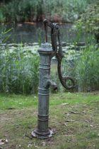 A cast iron water pump