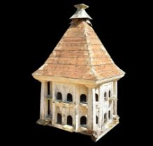 A Victorian painted pine dovecote