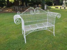 A wirework seat