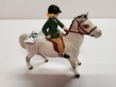Beswick Girl on Pony figure 1499 excellent condition