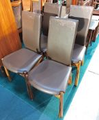 4 Zebra Wood Din Chairs