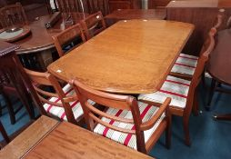 Repro Walnut Din. Table & 6 Chairs