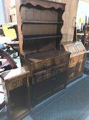 Oak Dresser, Bureau & Shelf Unit