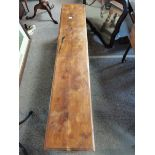 1.7m long early yew wood long stool