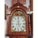 8 day mahogany longcase clock by G Davidson Wooler