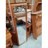 Misc. pine incl dresser top, mirror, shelves etc