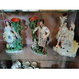 3 x Staffotrdshire figures
