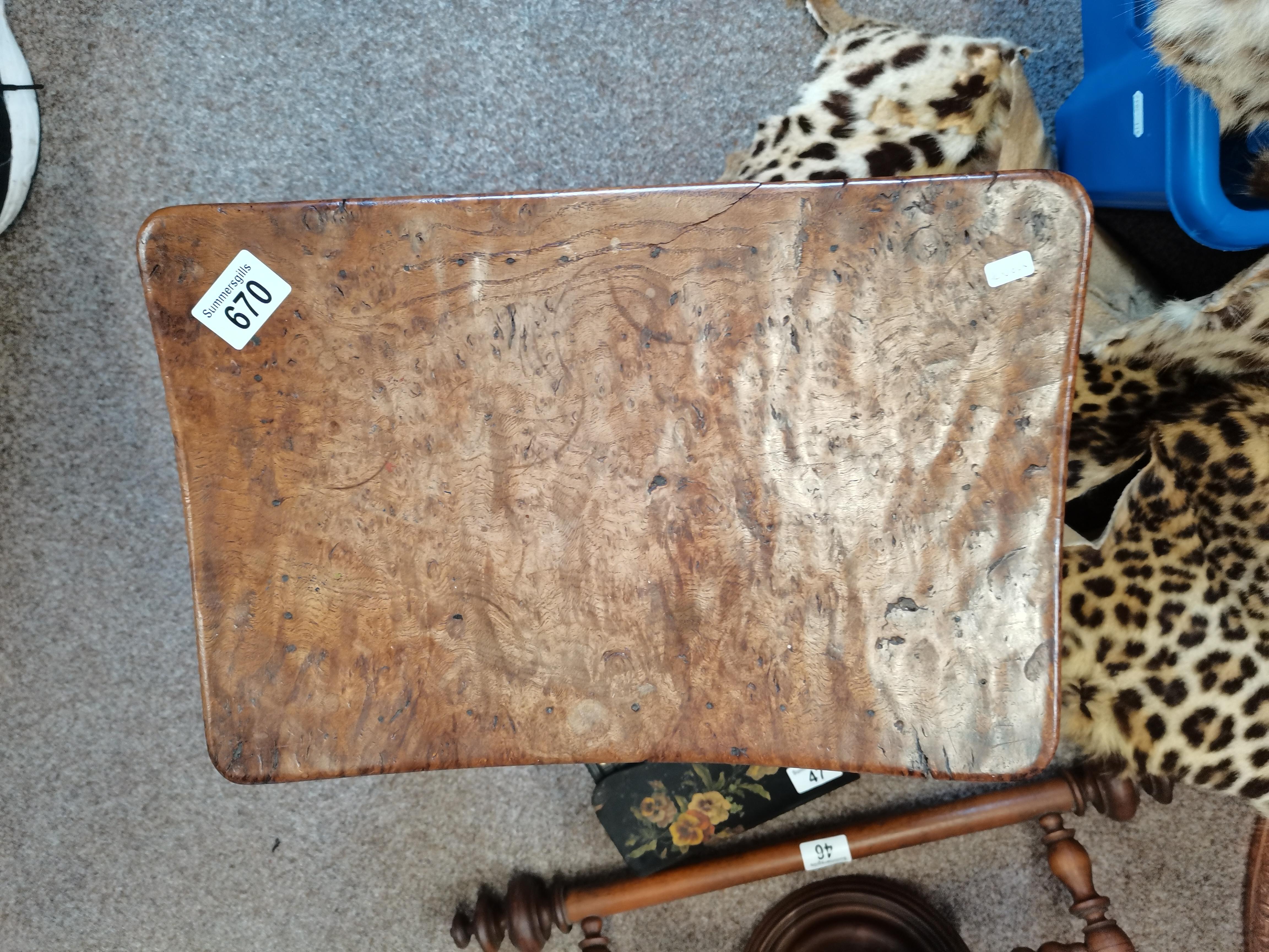 Early Mouseman burr oak stool - Image 4 of 9