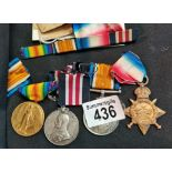 Military medal, 1914-18 medal, 1914 - 15 star long service in the volunteer force sjt LG THOMSON