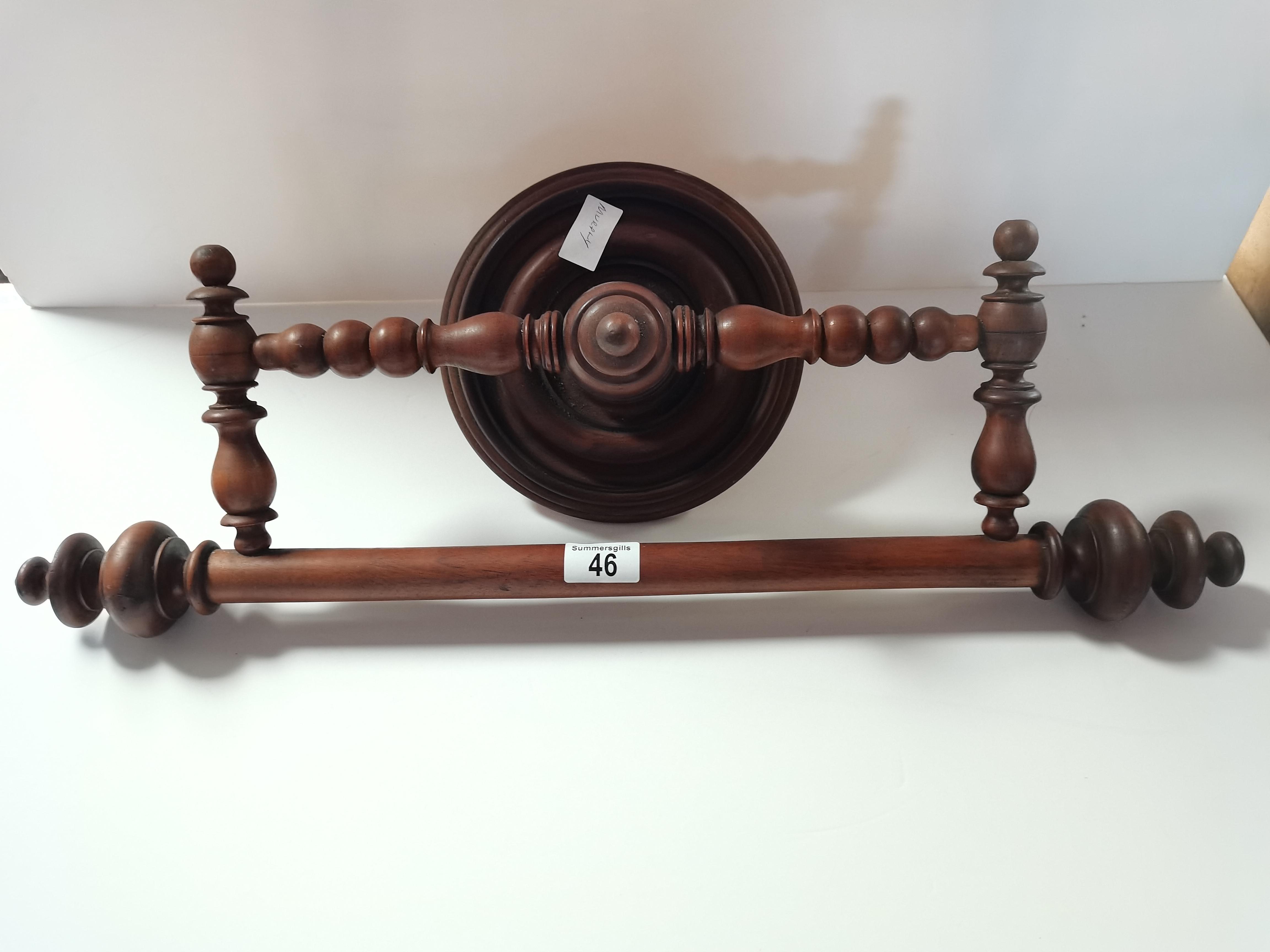 Victorian wooden towel rail