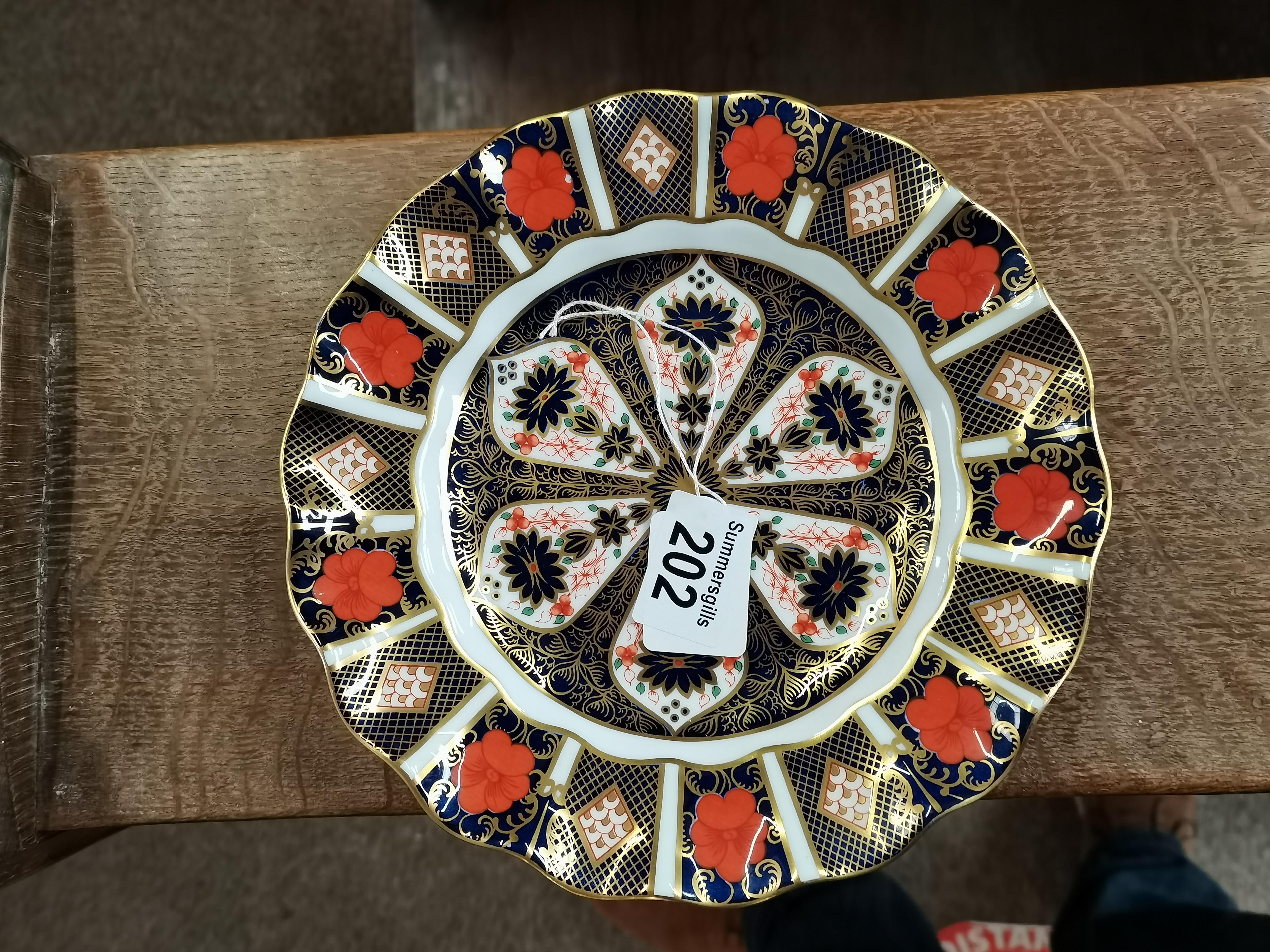 Crown Derby Imari Pattern plate 22cm