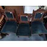 3 x Antique carved chairs