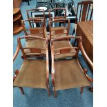 Set of repro. regency style dining chairs