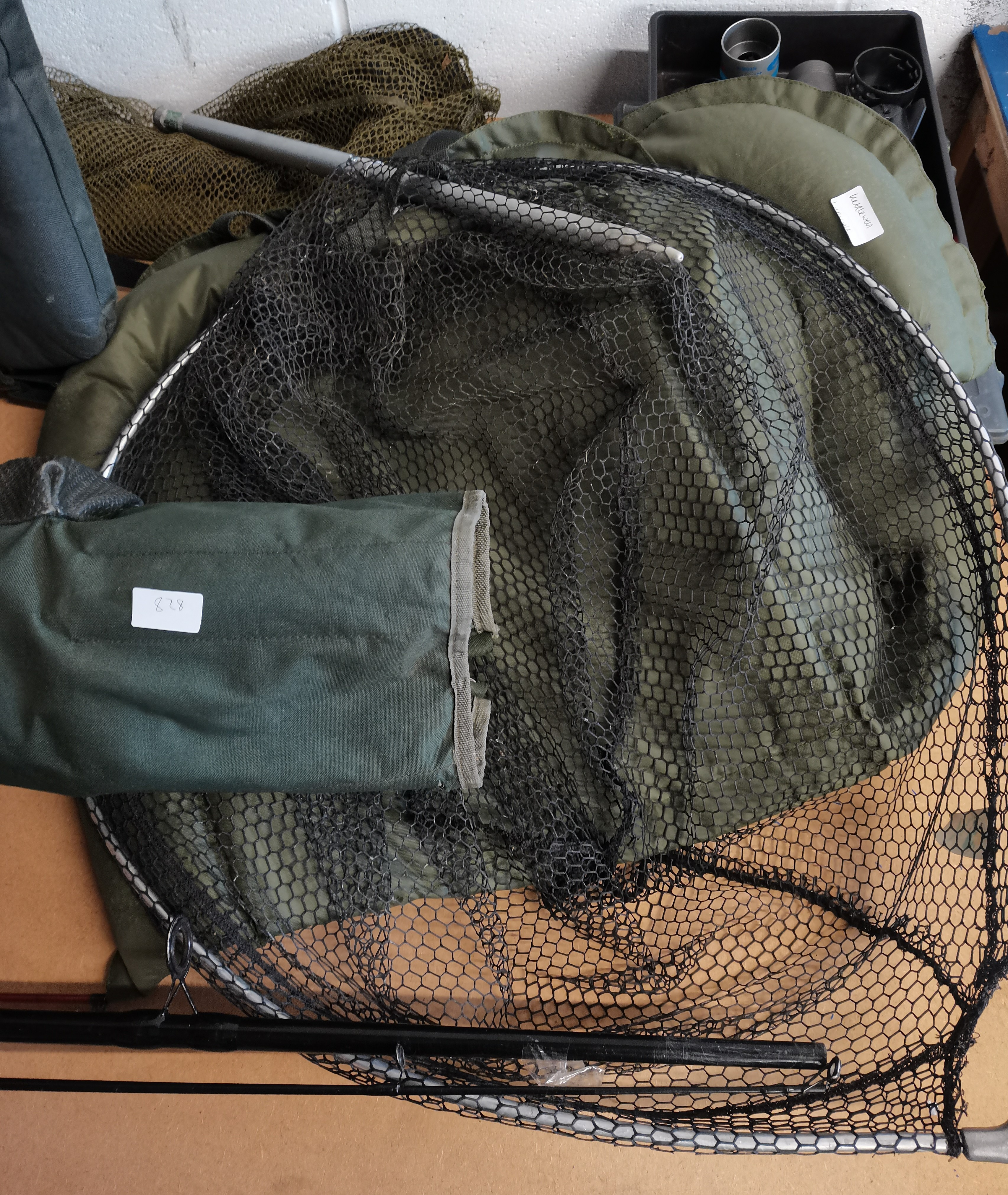 Large Quantity Of Fishing Gear Including Seat Rods Reels Landing net Etc - Image 4 of 5