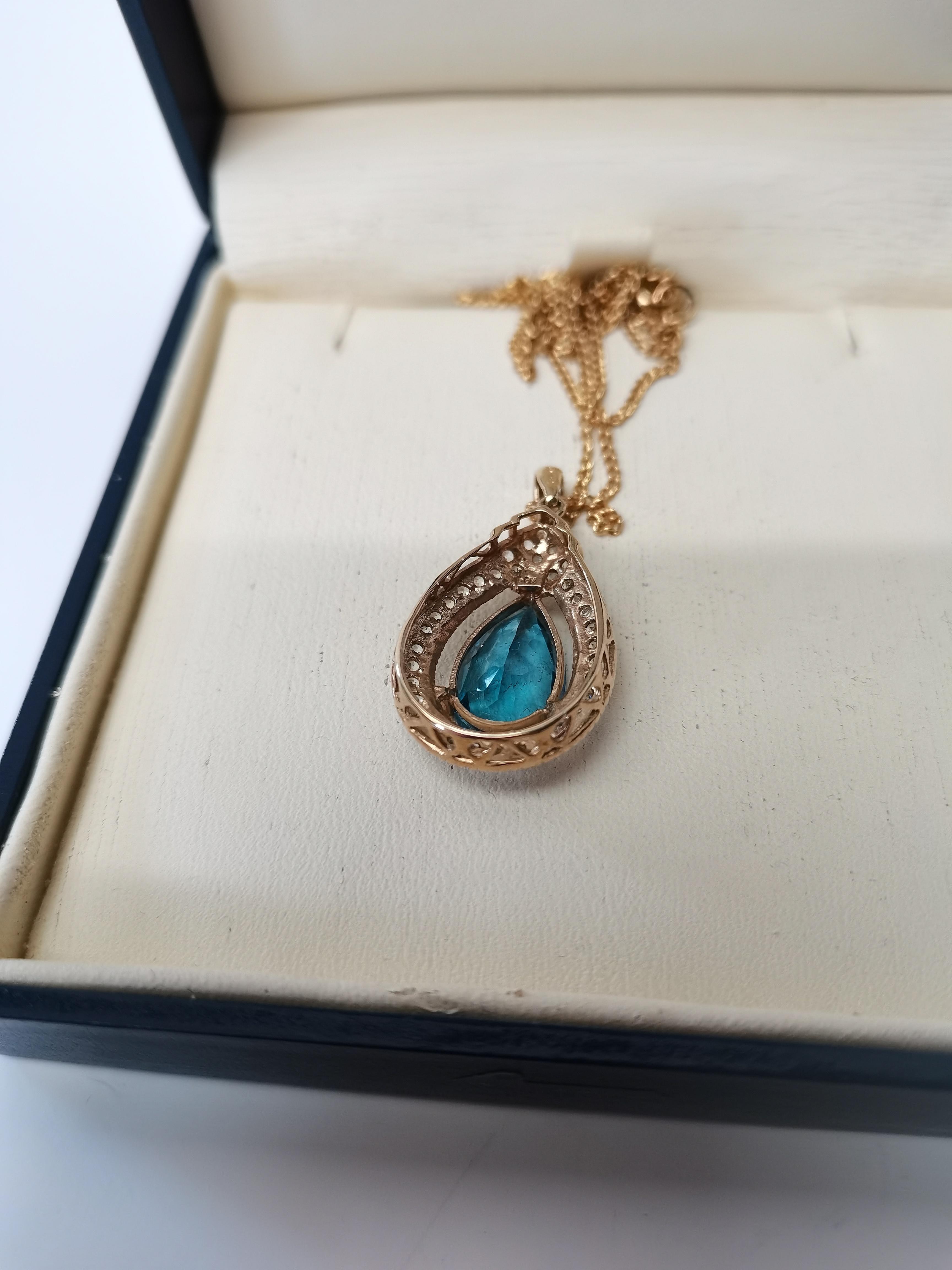 Blue topaz necklace - Image 3 of 3