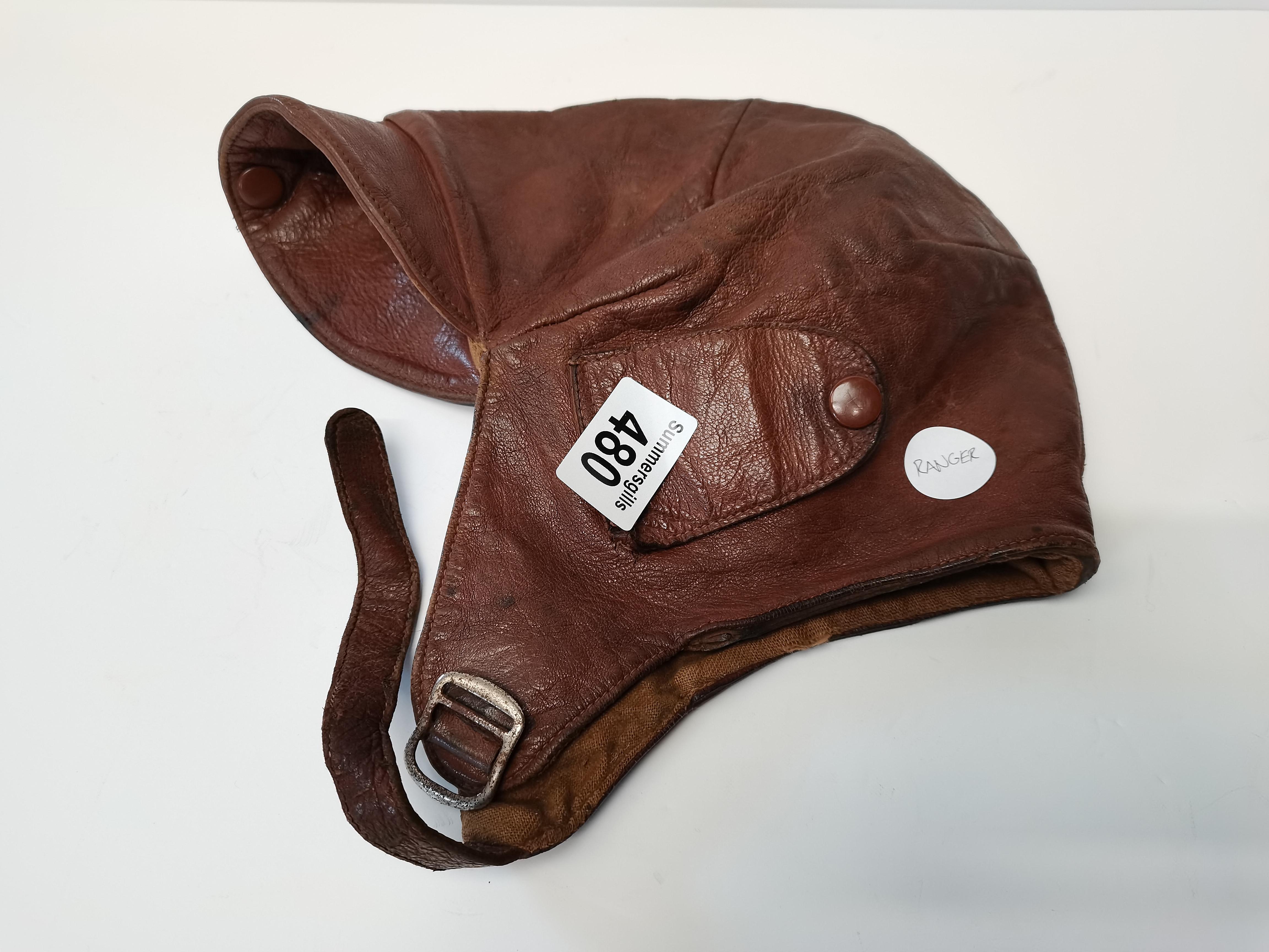 Vintage original flying helmet