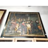 Large oil painting of soldiers/ Guy fawkes