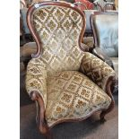 Victorian mahogany gents chair