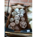 Park Place Chine Tea Set and Some Japanese 6 Character Marked Cups and Saucers