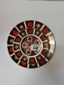 Crown derby imari pattern plates 22cm( 1st ) and 2 x 16cm ( 2nd ) ex con