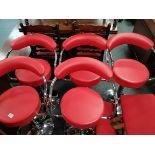 Set of 5 retro style bar/ kitchen stools and stool