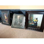 3 x old master style pictures