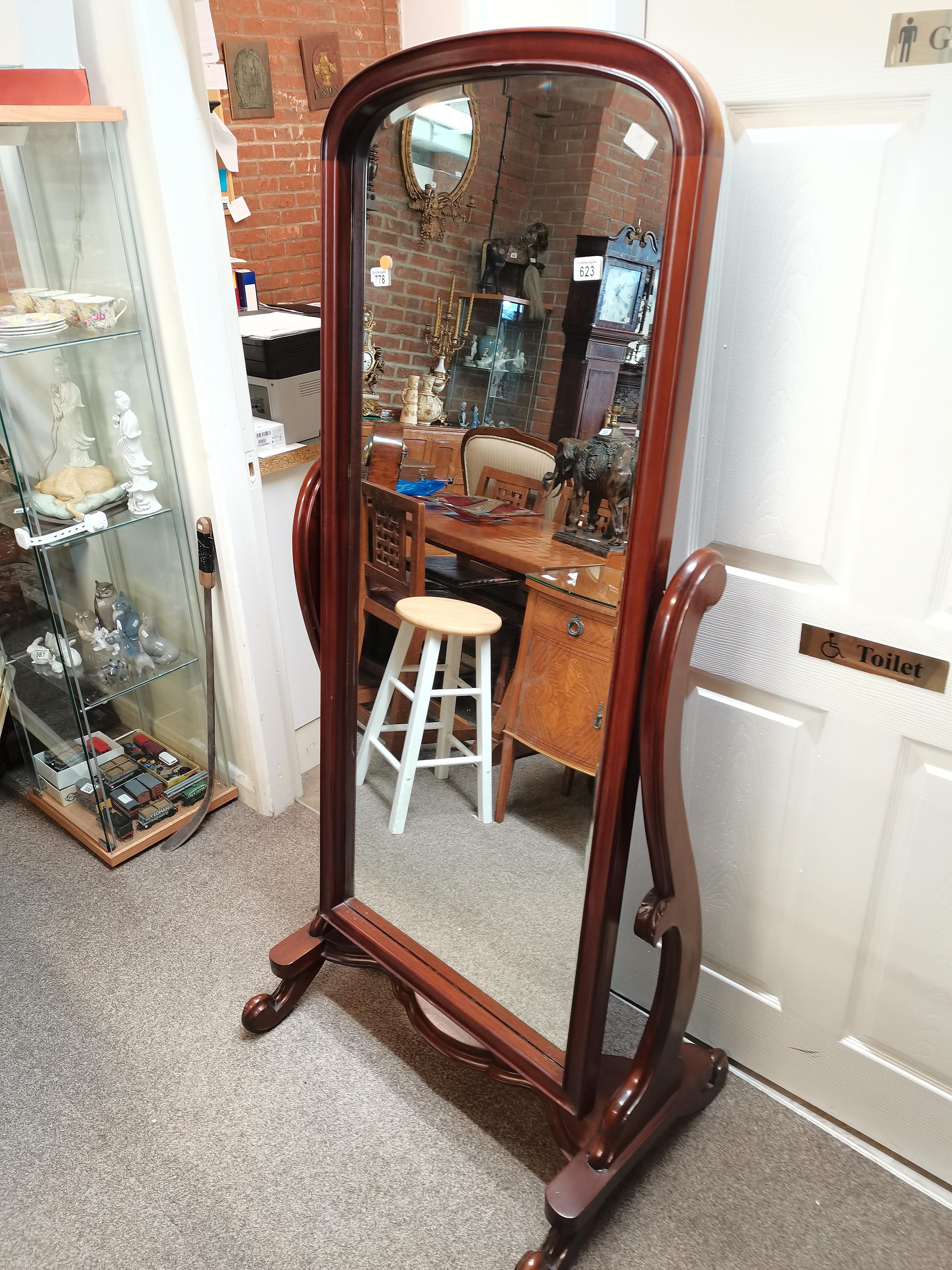 Mahogany victorian style dressing mirror