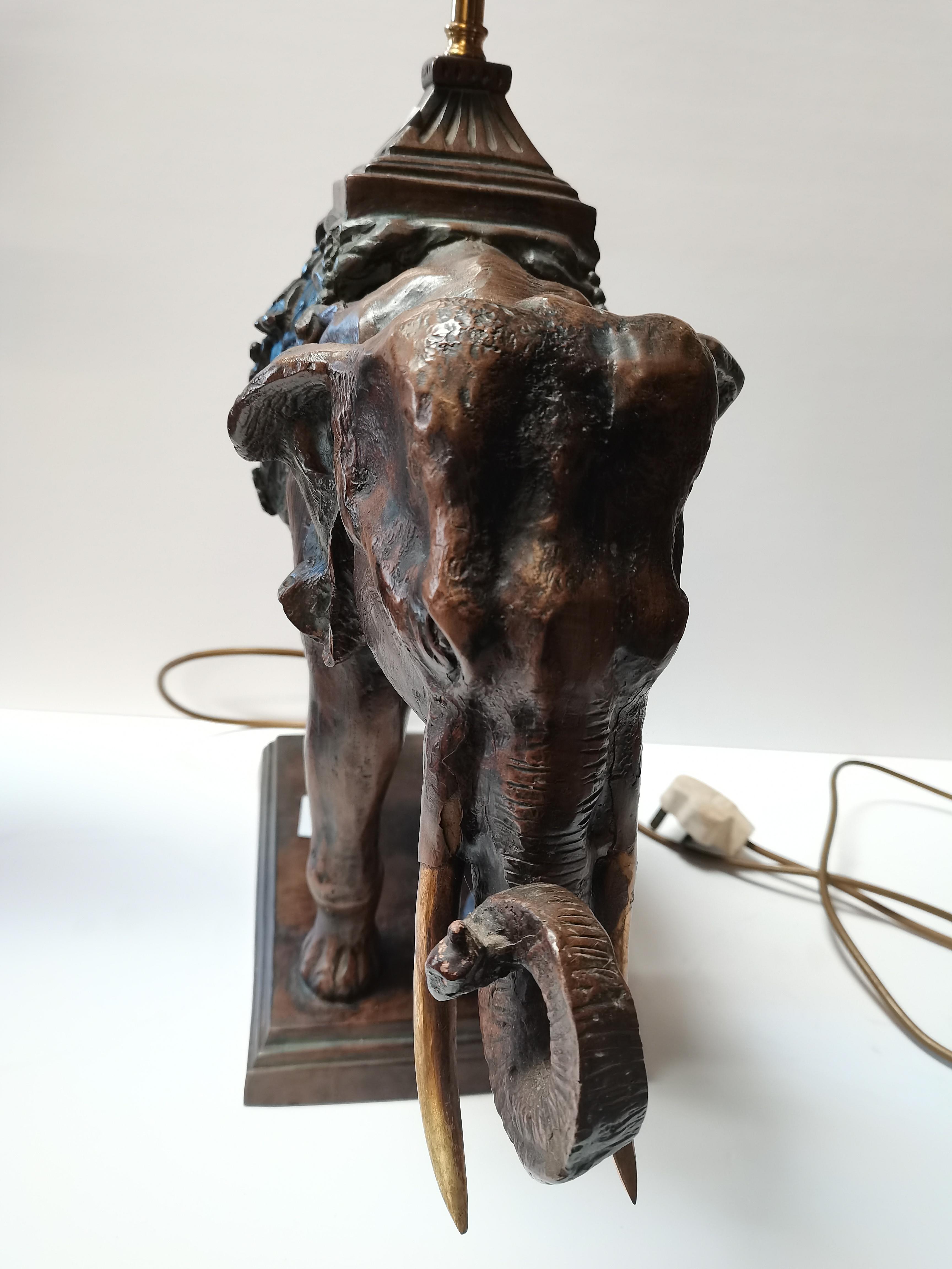 50cm elephant lamp - Image 2 of 3